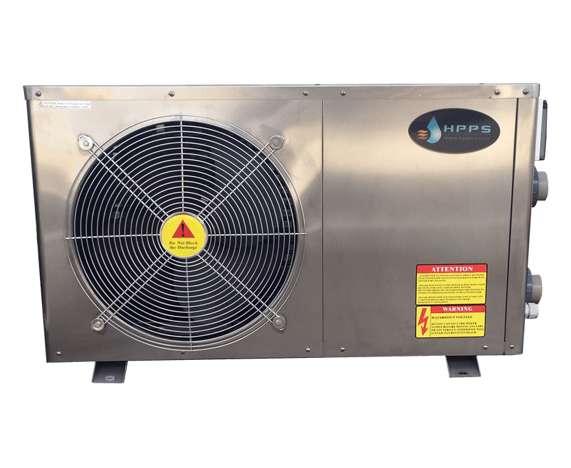 Swimming pool heat pump - side fan unit